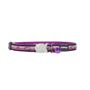 Red Dingo Purple Mouse Cat Collar