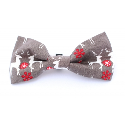 Classic Christmas Grey Bow Tie