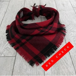 Frayed Red Check Bandana NEW