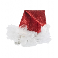 Mini Santa Hair Clip Hat