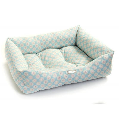 Aqua Daisy Dog Bed