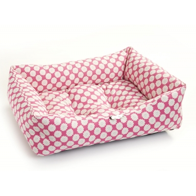 Pink Daisy Dog Bed
