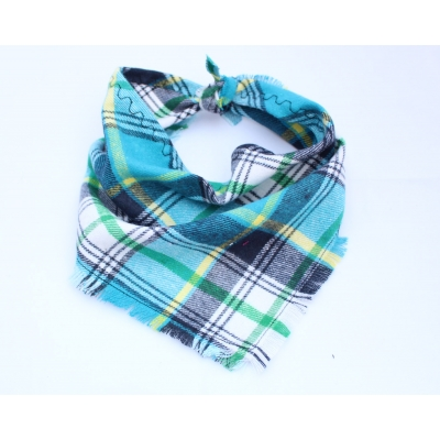 Frayed Jack Sprat Check Bandana - Scamps