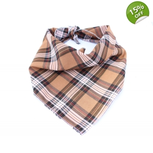 Tan & Black Plaid Bandana
