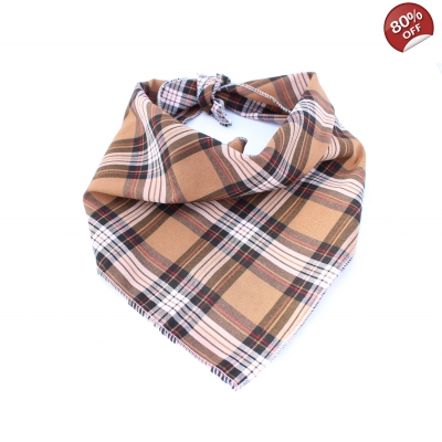 Coffee Bean Plaid Bandana