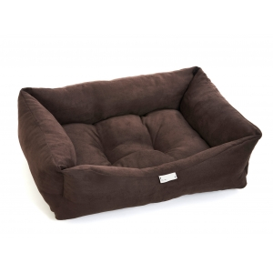 Chocolate Brown Suede Bed