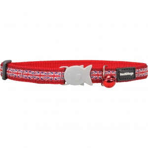 Red Dingo Union Jack Cat Collar