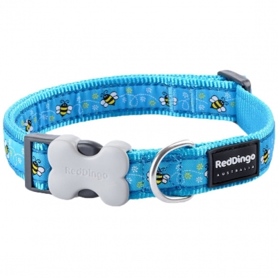 Blue Bumble Bee Red Dingo Collar