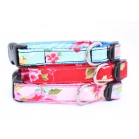 Red Vintage Slim Fit Collar - 15mm wide