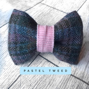 Pastel Tweed Dog Bow Tie