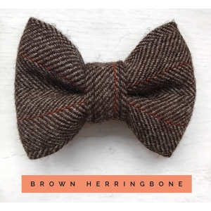 Brown & Orange Herringb..
