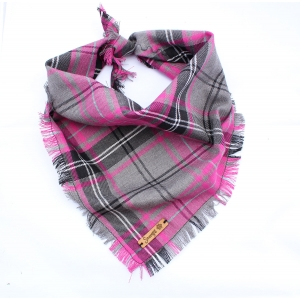 Frayed Buffalo Pink Plaid Bandana - Sc..