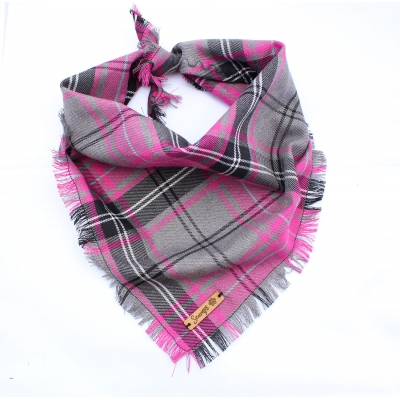 Frayed Buffalo Pink Plaid Bandana - Scamps