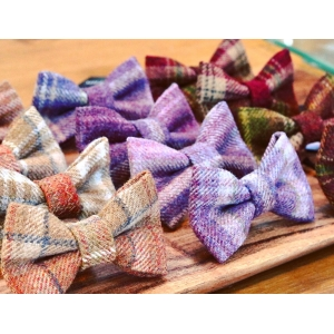 Pink & Purple Luxury Tweed Bow Tie