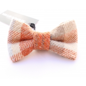 Orange Tartan Luxury Tweed Bow Tie