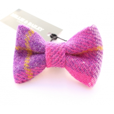 Pink & Purple Luxury Tweed Bow Tie title=
