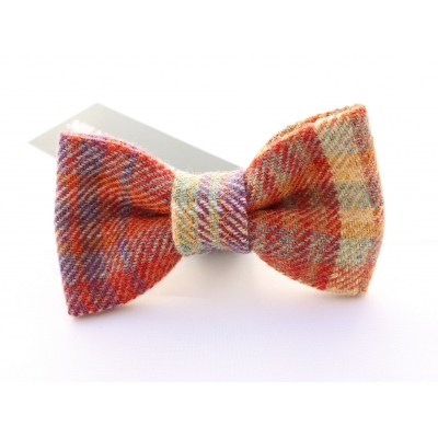 Rainbow Luxury Tweed Bow Tie title=