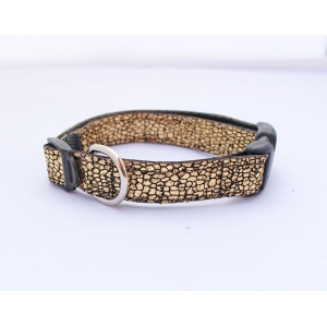Crackled Gold Slim Fit Collar