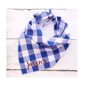 Personalised Southern Blue Plaid Bandana