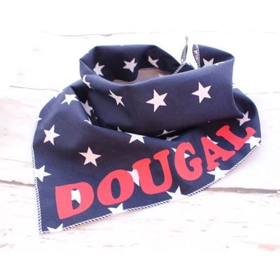 Personalised Navy Blue Star Bandana