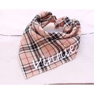 Personalised Barkberry Plaid Bandana