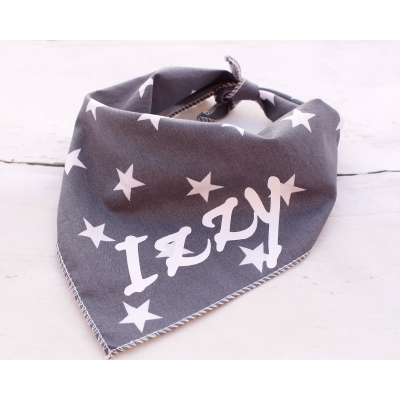 Personalised Grey Star Bandana