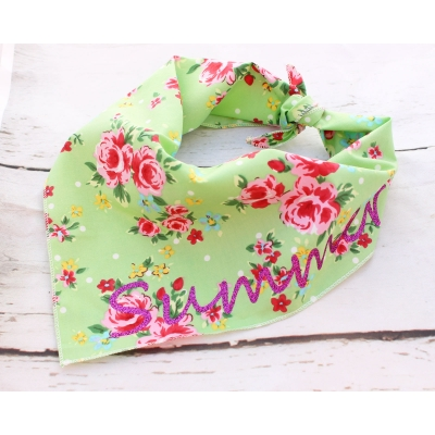 Personalised Green Vintage Bandana