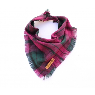 Frayed Newton & Moss Purple Plaid Bandana - Scamps title=