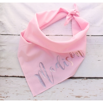 Personalised Rose Gold Pink Bandana
