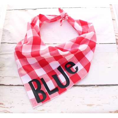 Personalised Southern Red Plaid Bandana