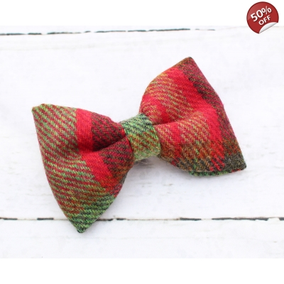 Moss Green & Red Tweed ..