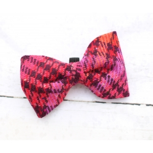 Pink Mulled Wine Tweed Bow Tie - Deluxe