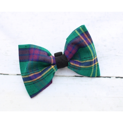 Green & Purple Plaid Bow Tie - Deluxe title=