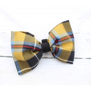Mustard Plaid Bow ..
