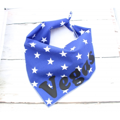 Personalised Blue Star Bandana