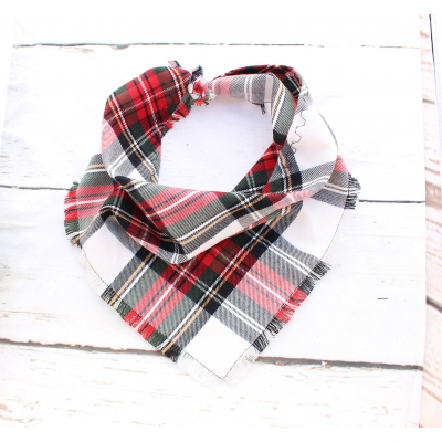 Frayed Alfies Red & White Plaid Bandana - Scamps