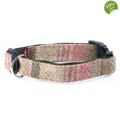 Woodland Hound Tweed Collar LARGE title=