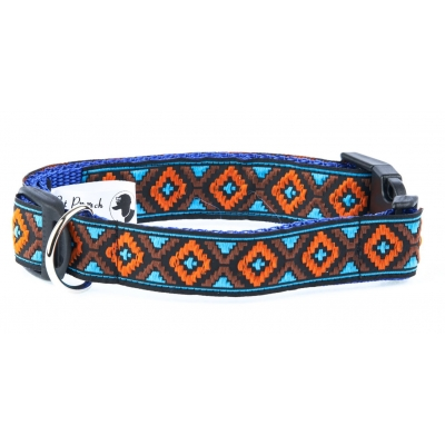 Blue & Neon Orange Republic Collar title=