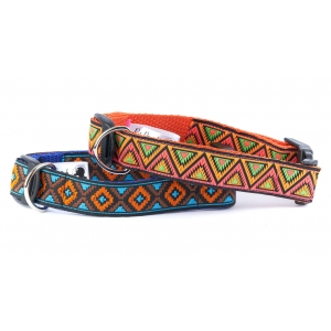 Blue & Neon Orange Republic Collar