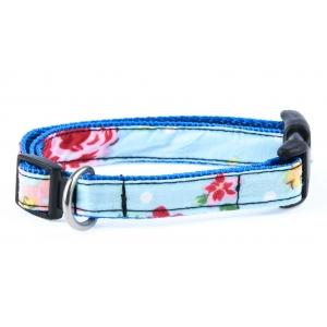Blue Vintage Slim Fit Collar - 15mm wide
