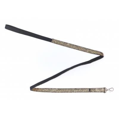 Crackled Gold Slim Fit Lead- 15mm wide