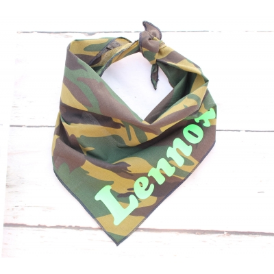 Personalised Army Soldier Dog Bandana
