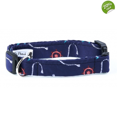 A Sailors Pooch Deluxe Dog Collar - Large
