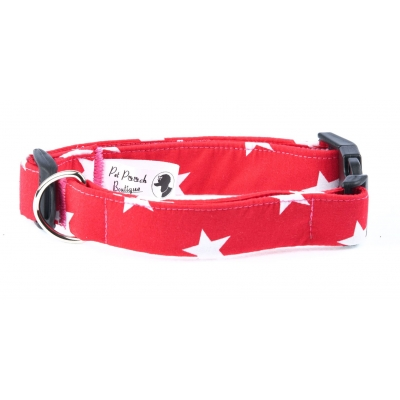 Red Star Deluxe Dog Collar