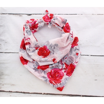 Lace Rose Double Sided Bandana title=