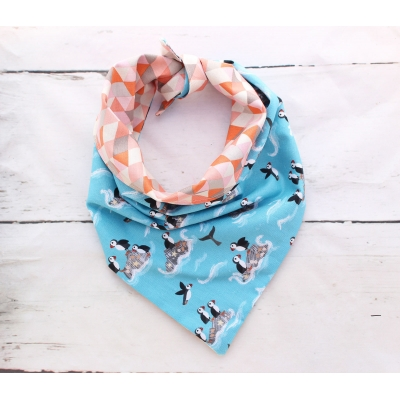 Puffin Party Double Sided Bandana title=