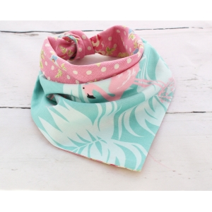 Floral Flamingo Double Sided Bandana
