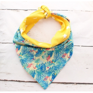 Yellow Tropicana Double Sided Bandana