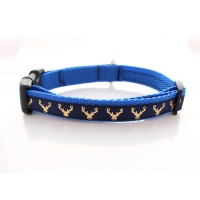 Country Stag Slim Fit Collar - 15mm wide