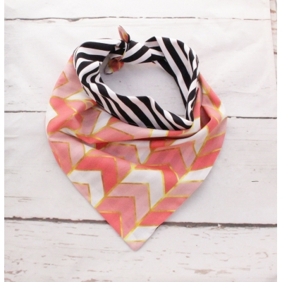Rose Gold Chevron Double Sided Bandana